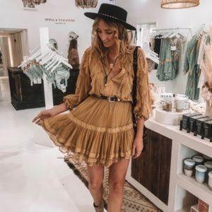 Spell & Gypsy Grace Tulle Playdress in Caramel